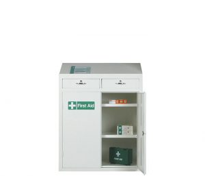 First Aid Cabinet Workstation