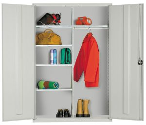 Wide Multipurpose Storage Cabinet - Clothing and Equipment