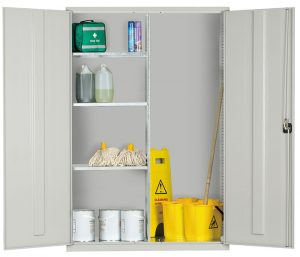 Wide Multipurpose Storage Cabinet - Janitorial