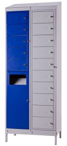 Five Compartment Garment Locker and Collector (shown with Ten Compartment Garment Locker)