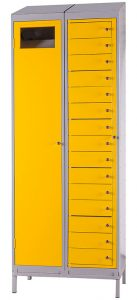 Fifteen Compartment Garment Locker (shown with Garment Collector)