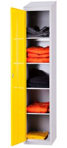 Single Door Garment Locker with Five Compartments