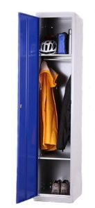 Garment Locker Single Door with Hanging Compartment and Two Shelves
