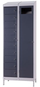 Ten Compartment Garment Locker (shown with Garment Collector)