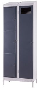 Three Compartment Garment Locker (shown with Garment Collector)