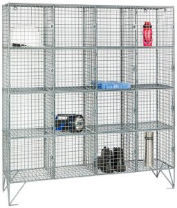 Mesh Locker Multi Compartment Sixteen Door